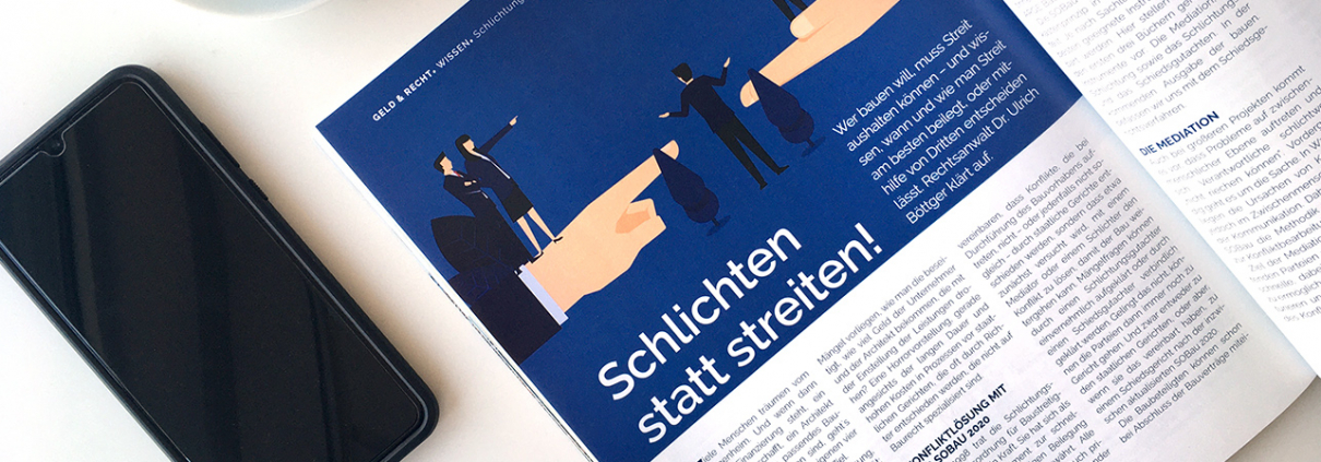 Schlichten statt streiten - Zeitschriftenartikel über die SOBau